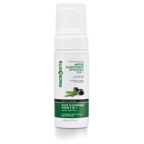 MACROVITA FACE CLEANSING FOAM 3in1 CLEANSING-TONIC-SOOTHING olive oil & eyebright 150ml
