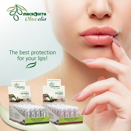MACROVITA OLIVE-ELIA Lip balm RASPBERRY SPF10 olive oil & aloe 4g