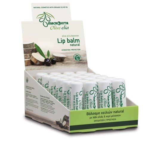 MACROVITA OLIVE-ELIA Lip balm VANILLA SPF10 olive oil & propolis 4g
