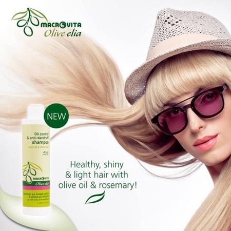 MACROVITA OLIVE-ELIA Oil Control & Anti-dandruff Shampoo olive oil & rosemary 200ml