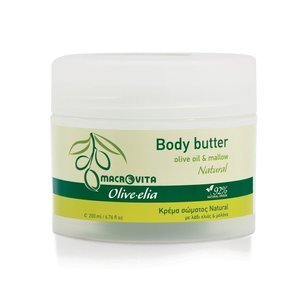 MACROVITA OLIVE-ELIA NATURAL KÖRPERBUTTER Olivenöl & weißem Tee 200ml