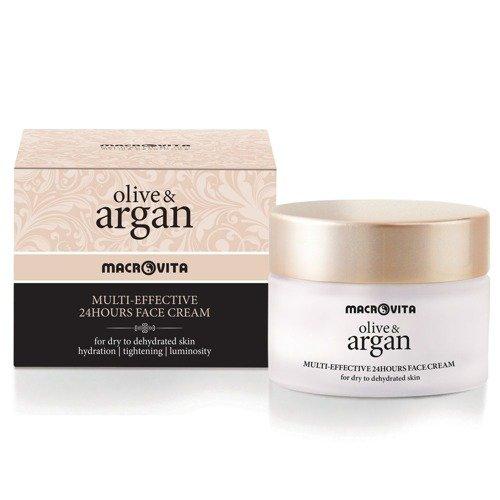 MACROVITA OLIVE & ARGAN MULTI-EFFEKTIV 24-Stunden-Creme für trockene oder dehydrierte Haut 50ml